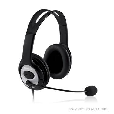 Microsoft USB Lifechat LX-3000 Headset JUG-00017 with Noise Cancelling Microphone JUG-00017