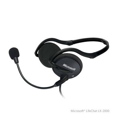 Microsoft 3.5mm Lifechat LX-2000 Headset with Microphone PN 2AA-00011