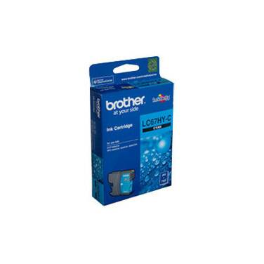 Brother LC-67HY-C Cyan Inkjet Cartridge (750 Pages)