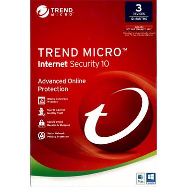 Trend Micro Internet Security OEM 3 PC's