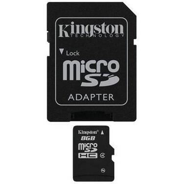 8GB Kingston Micro SD Card with SD Adapter