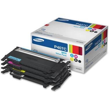 Samsung CLT-P407C (4 x Toner Cartridge C,M,Y,K) Rainbow Pack
