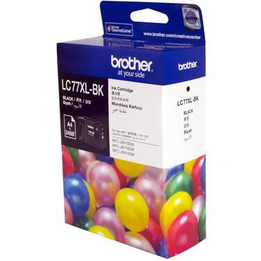 Brother LC77XLBK Black Ink Cartridge (2,400 Pages)