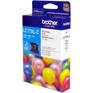 Brother LC77XLC Cyan Ink Cartridge (1,200 Pages)