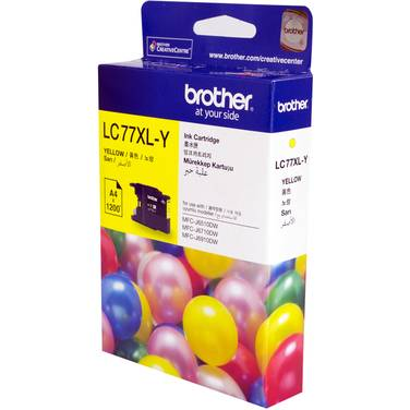 Brother LC77XLY Yellow Ink Cartridge (1,200 Pages)