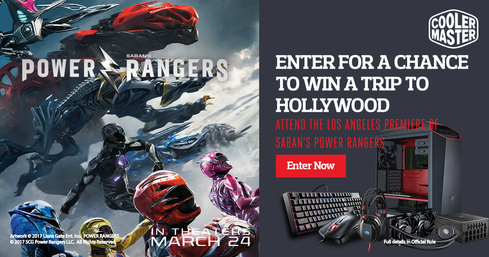 Chance to WIN Power Rangers Hollywood Trip!*