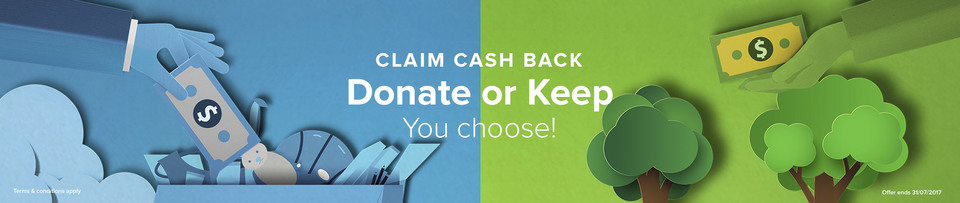 Canon Donate or Keep Cash Back 2017