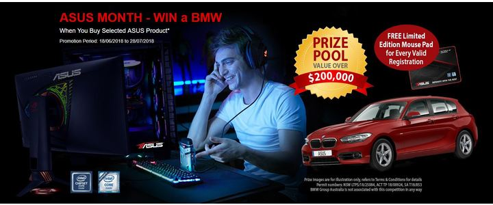 ASUS Month Win a BMW 2018