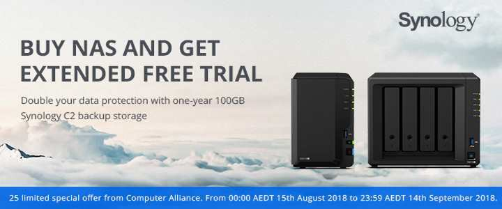 Synology 100GB C2 Backup Storage Front 2018