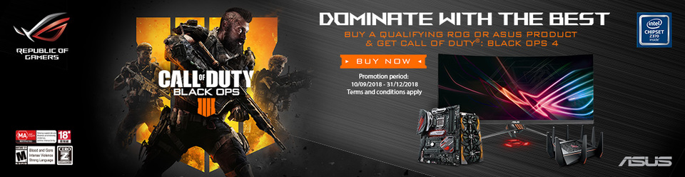 ASUS Call of Duty Promo Inventory 2018