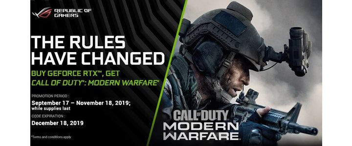 ASUS COD Modern Warfare RTX Video Card Bundle Front 2019