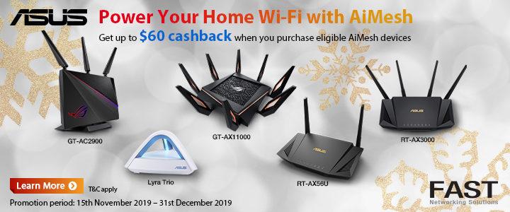 ASUS RT-AX56U AiMesh Dual Band Wireless-AX1800 Gigabit