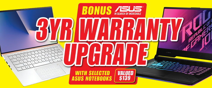 BONUS ASUS Upgrade to 3 Year Warranty