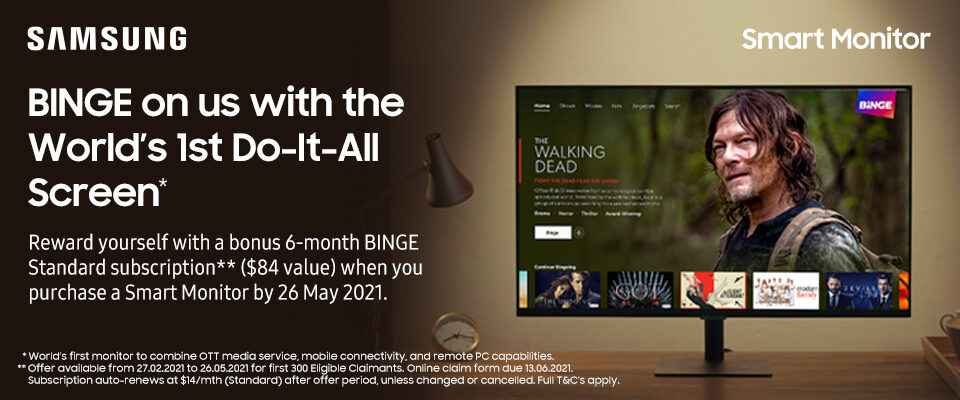 Receive a 6-month BINGE Standard Subscription*