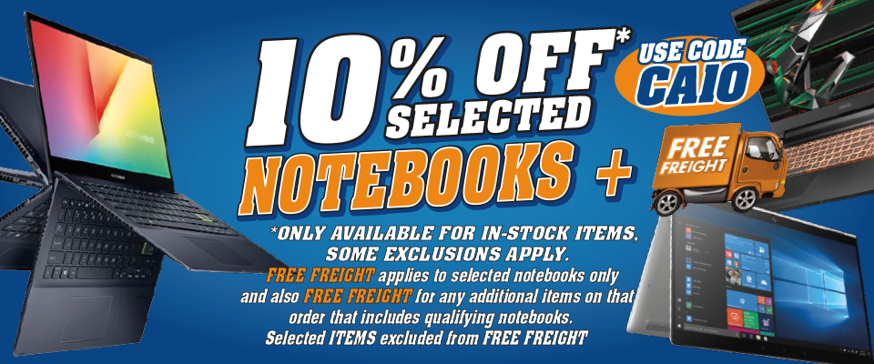10% Off Notebooks Front Banner